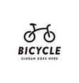modern minimalist bike bicycle logo icon vector image vector image