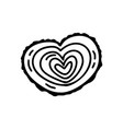 monoline valentines day hand drawn stylized vector image vector image