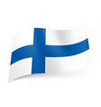 national flag of finland blue cross on white vector image vector image