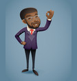 ok hand afro american african european businessman vector image vector image