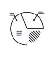 pie diagram sign line icon sign vector image vector image