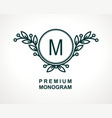 premium monogram template for your emblems logos vector image vector image