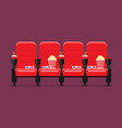red cinema chairs vector image vector image