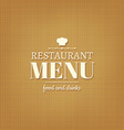 Restaurant Menu Card vector image vector image