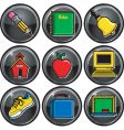 school icon buttons vector image vector image