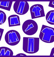 seamless pattern of mens clothing icons vector image vector image