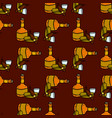 seamless pattern with hand drawn bourbon whiskey vector image vector image