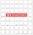 Set of transparent realistic shadow effects vector image
