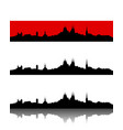silhouette of erfurt vector image vector image