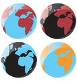 Smooth globe icons vector image vector image