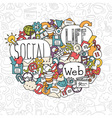 social network background vector image vector image
