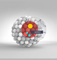 sphere 3d template abstract idea concept for vector image vector image