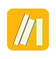 stack books flat icon vector image