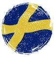 Swedish grunge flag Grunge effect can be cleaned vector image vector image