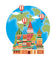 the saint basil s cathedral moscow design vector image