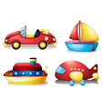 Toy set in red and yellow vector image