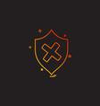 unprotected sheild icon design vector image