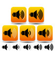 volume sound level symbols - icons vector image vector image