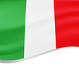 Waving flag of Italy background vector image vector image