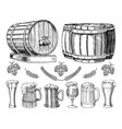 wine or rum beer classical wooden barrels for vector image vector image