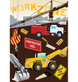 Work Zone Construction vector image vector image