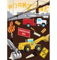 Work Zone Construction vector image