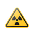 yellow radiation warning sign vector image