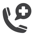 emergency call glyph icon medicine and healthcare vector image