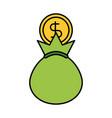 bank bag of money coin dollar cash vector image