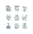 money finance line icons set vector image