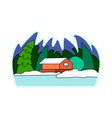 a snow-covered village vector image