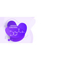 adrenaline adrenalin epinephrine molecule vector image vector image