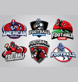 american football badge design set vector image