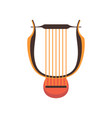 ancient lyre musical instrument vector image vector image