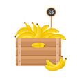 bananas in wooden grate vector image