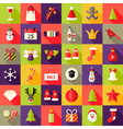 Big Christmas Squared Flat Icons Set 2 vector image vector image
