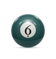 billiard six ball isolated on a white background