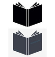 book icons sign for your company isolated vector image vector image