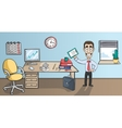 Business man character in office interior vector image vector image