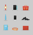 businessman clothes and items set vector image vector image