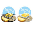 butter and sandwich vector image vector image