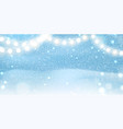 christmas background with glittering sparkling vector image vector image