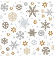 christmas seamless pattern with silver and gold vector image vector image