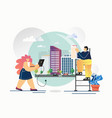 city model flat style design vector image