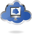 Cloud computing 02 resize vector image vector image