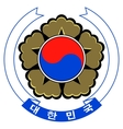 coat of arms of South Korea vector image vector image