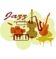 Colorful Jazz instruments set isolated on white vector image