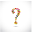Colorful question mark symbol on background vector image