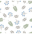 cute autumn pattern with berries and leaves vector image vector image