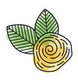 cute flower rose icon vector image vector image